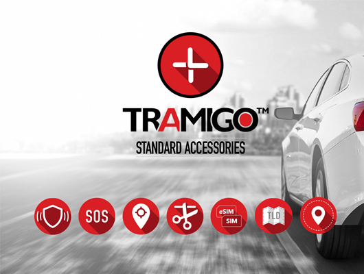 Tramigo standard accessories for fleet management and vehicle tracking